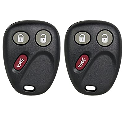 Keyless2Go Keyless Entry Car Key Replacement for Envoy Trailblazer Ascender Bravada MYT3X6898B - 2 Pack: Automotive