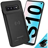 NEWDERY Upgraded Samsung Galaxy S10 Battery Case Qi Wireless Charging Compatible, 4700mAh Slim Rechargeable Extended External