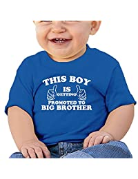 Newborn Short Sleeve Getting Promoted To Big Brother Shirts