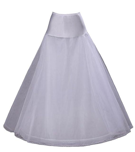 FNKSCRAFT enagua de la boda accesorios de la boda Enaguas Falda paseo nupcial Lycra una línea