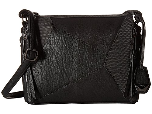 Jessica Simpson Women's Pamela Top Zip Crossbody Black Cross Body