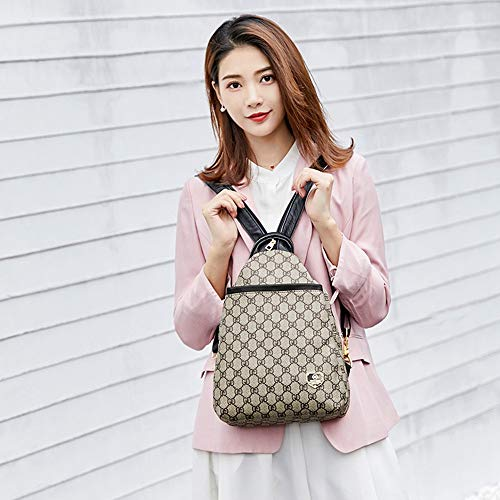 Donna Colori Stampa Selvaggio Dell'immagine Multifunzionale A Tracolla Borsa Zaino Casual Foto Versatile Wangkk Colore Da w60gqpp