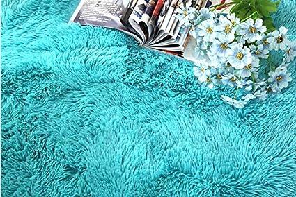 XINYUKEJI Tapis rond Tapis de sol Shaggy Confortable Moquette Anti-d/érapage Velours de salon /à longs D/écoration Brown, 80/_x/_80/_cm