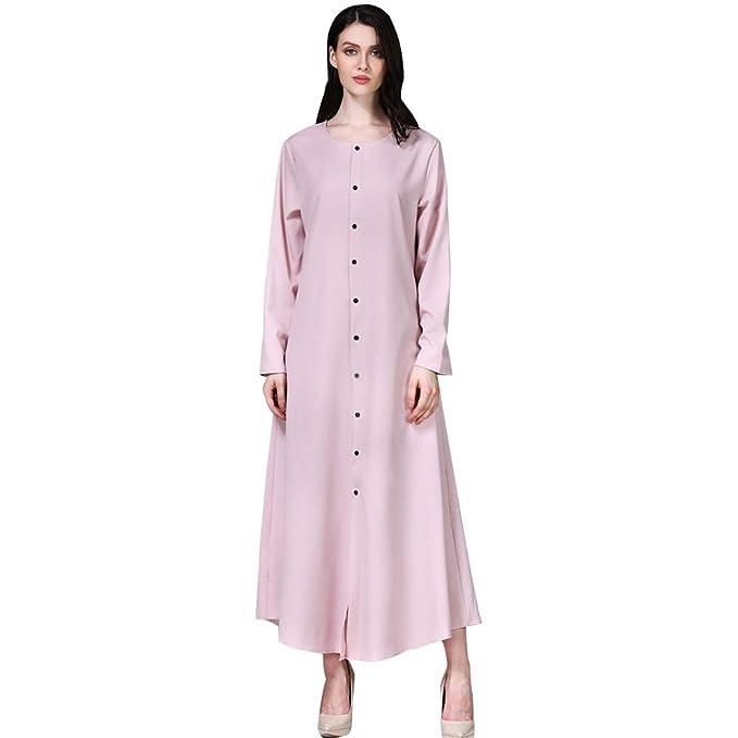 KINDOYO Vestido Maxi Musulmán para Mujer - Vestido de ...