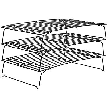 Fast Deliver 3 Tier Steel Baking Cooling Rack Kitchen Folding Stackable Quick Cooling Large Assortment Home & Garden Bakeware