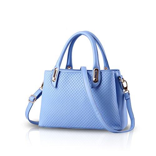 351324bebac Galleon - NICOLE DORIS New Women Ladies Senior PU Leather Handbag Shoulder  Bag Casual Shoulder Bag Messenger Bag Purse(Azure)