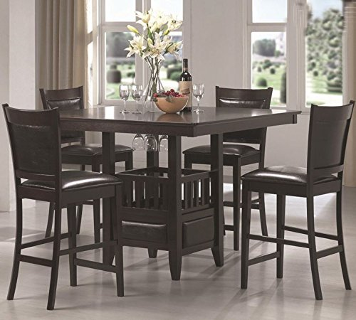 Casual Comfortable Counter Height Dining Table and Stool Set