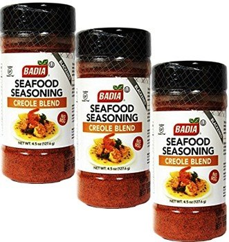 Seafood Seasoning Creole Cajun 4.5 oz Pack of 3 by Badia