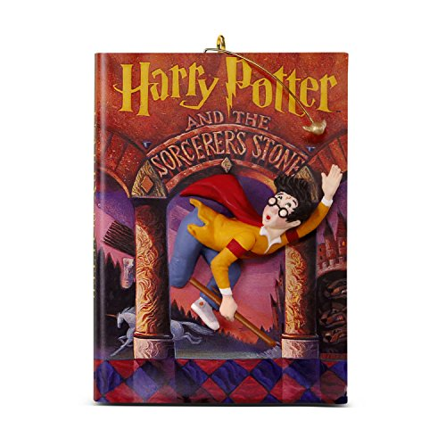 Hallmark Keepsake Christmas Ornament 2018 Year Dated, Harry Potter and The Sorcerer's Stone 20th Anniversary (Book Ornaments Christmas)