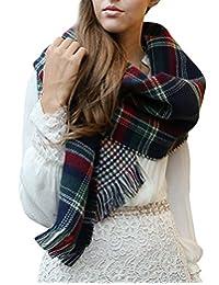 Urban CoCo Women Winter Warm Blanket Scarf Shawl Wrap (Navy)