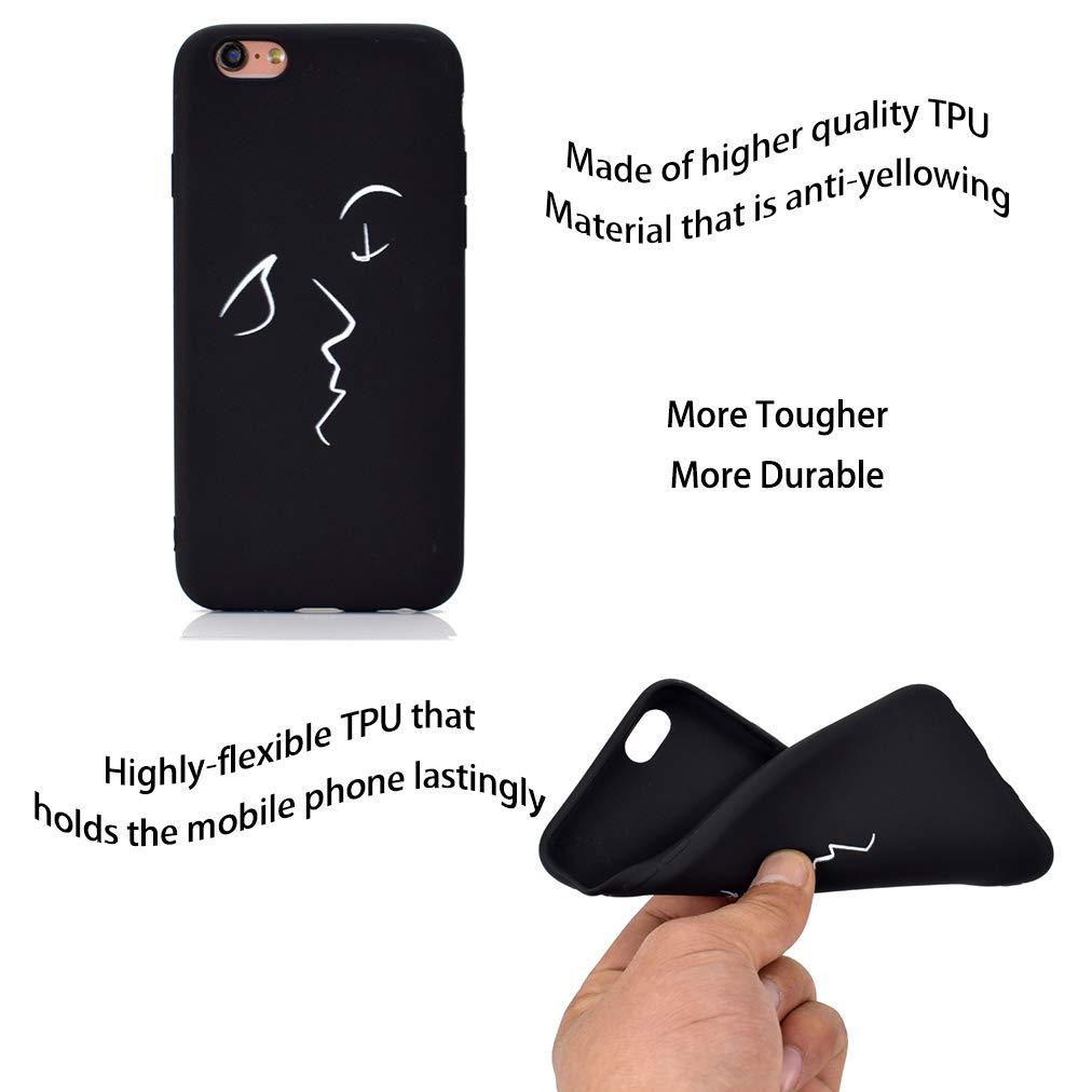 Carcasa Silicona TPU Suave Ultra Delgado Flexible Antideslizante Patr/ón Noble iPhone 6 Soft TPU Case TE EXTRA/ÑO Rongecr Funda Negro con iPhone 6s