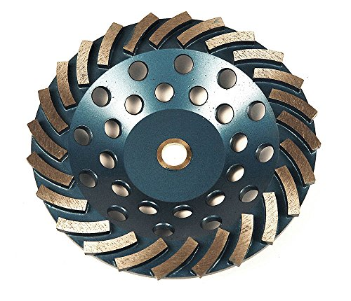 RockMaster Turbo Segmented Concrete Grinding Cup Wheels (7'' 14 (7' Diamond Grinding Wheel)