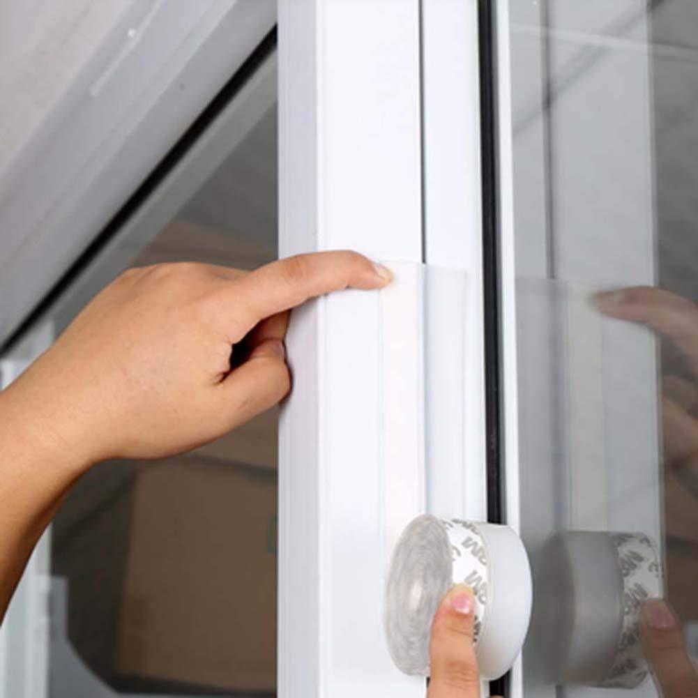 Transparente VIVIA Parte Inferior de la Tira de la Puerta Tira de Sello de la Puerta de la Ducha de la casa y del Vidrio para el Lado de la Puerta