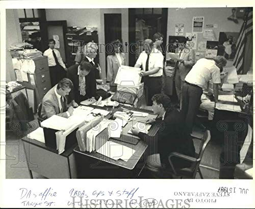 1987 Press Photo The cramped District Attorney's office on Targee Street