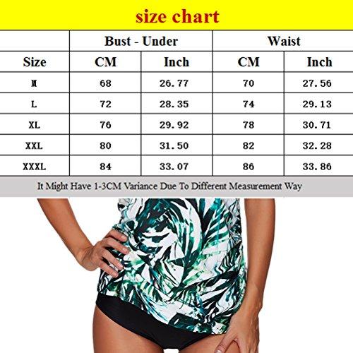 Zhhlinyuan Women's natación Beachwear Fashion Printing High Waist Swimwear Multicolor