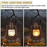 LED Vintage Lantern, Realistic Flicker Flame