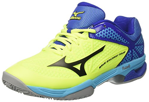 neonyellow Homme surftheweb black Bianco Multicolore Chaussures Wave Mizuno Tour Cc Exceed De Tennis 7CqvAgwx