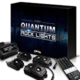 OPT7 Quantum 4pc LED Rock Lights - RGBW Multicolor w/Remote - Dimmer Strobe Fade IP67 Waterproof Pods Off Road, Crawling Climbing - 2 Year Warranty