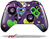 Crazy Hearts - Decal Style Skin fits Microsoft XBOX One Wireless Controller (CONTROLLER NOT INCLUDED)
