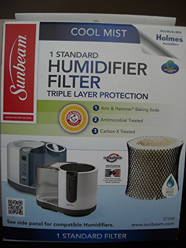 1-x-new-sunbeam-sf206pdq-um-cool-mist-wick-filter-c-antimicrobial-w-arm-hammer-by-sunbeam