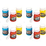 Plastic Action Packed Mini Bubble Bottles -24 Super Hero bubbles by happy deals