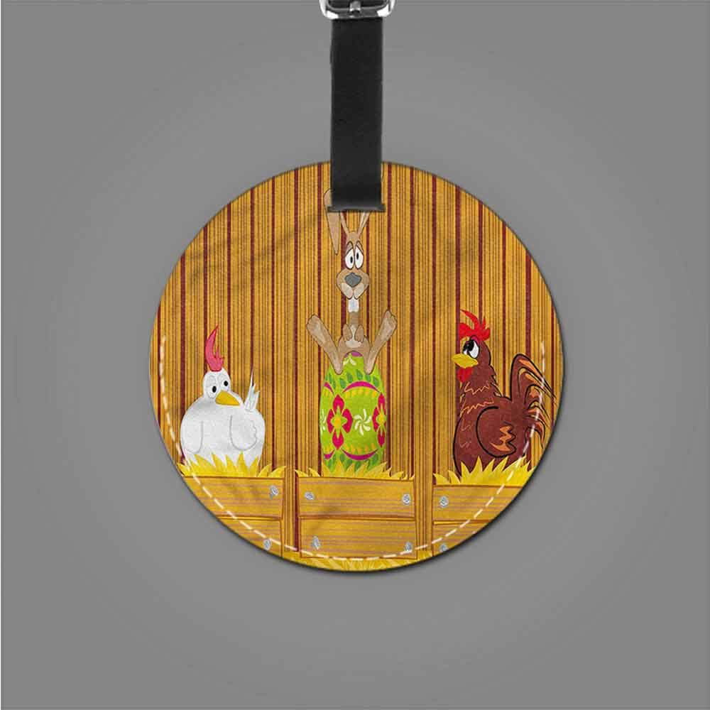 Boarding Tags Luggage Tag Easter,Cat Couple Exchanging Egg Label Travel Accessories