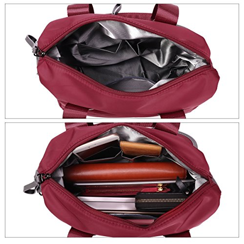 Cross Casual Nylon Fashion Body Folding Bag Daily for Large Gracosy Women's Messenger Bags Waterproof Office Handbag Multifunction Tote Shoulder Sling a Life Bag Shopping Bags Ladies Bag Red xXYdw8q