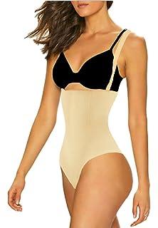 dece442e45baf ShaperQueen 102A Thong Bodysuit - Womens Waist Shaper Trainer Girdle Faja Tummy  Control Panty Shapewear (