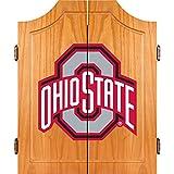 NCAA Ohio State University Wood Dart Cabinet Set