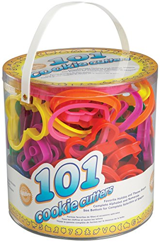 Wilton Cookie Cutters Set, 101-Piece Alphabet, Numbers and Holiday Cookie Cutters by Wilton