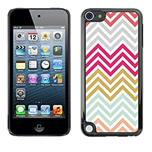 [Neutron-Star] Snap-on Series Teléfono Carcasa Funda Case Caso para Apple iPod Touch 5 [Oro gris púrpura azul]
