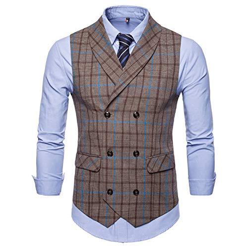 Vest Down Waistcoat - Mens Slim Fit Dress Vest Formal Turn Down Collar Premium Button Down Vest Mens Vest Waistcoat
