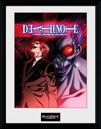 "Price comparison product image Gb Eye 16 x 12-inch ""death Note, Light & Ryuk"" Framed Photograph"