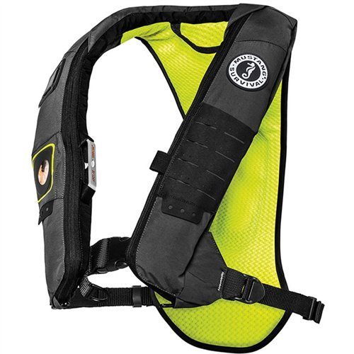 Mustang Survival Hydro Elite 28K Inflatable PFD, Grey/Chartreuse