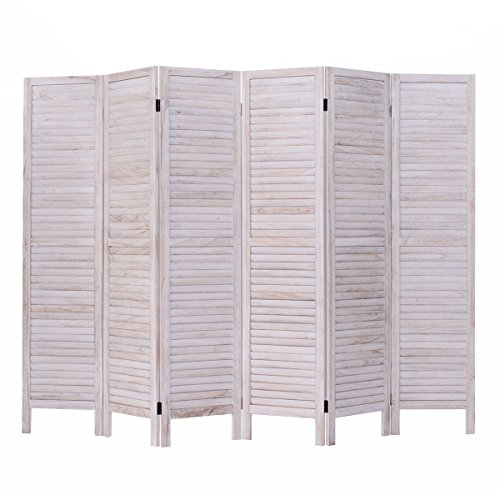 Giantex 6 Panel Screen Room Divider Wood Folding Oriental Freestanding Tall Partition Privacy Screen Room Divider