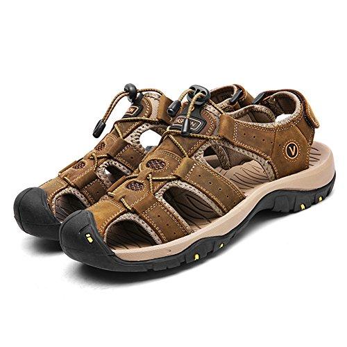 Toptak Verano Deporte Sandalias Outdoor Hombre Zapatos De Cuero Senderismo Zapatillas Trekking 6xq6SRrw