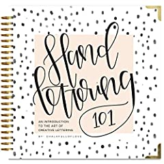 Over 200,000 books sold!              With Hand Lettering 101, Sarah brings her popular Austin-based Hand Lettering 101 workshop right to you with this beginner's workbook!       If you follow Chalkfulloflove on social media, ...