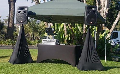 El Event Linens manteles de lino de 6 pies (2 unidades) – Funda de mesa ajustable de licra para manteles de mesa de DJ, manteles de boda, manteles rectangulares de mesa, mesa