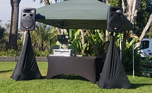 6 ft Black Rectangular Linen Tablecloth - Spandex Fitted Table Cover for DJ Table Covers, Wedding Tablecloths, Rectangle Massage Table Cloths, Kitchen Table - Stretch Rectangular Tablecloth by Event Linens (Image #8)