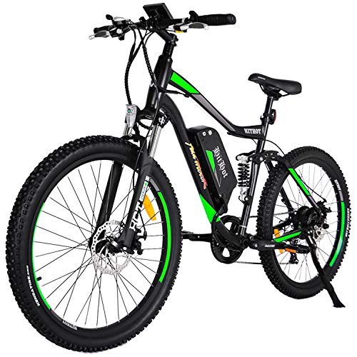 Addmotor HITHOT Electric Mountain Bike 48V 500W Motor Ebike Full Suspension 10.4Ah Lithium Battery Pedal Assist Sport Electric Bicycle 27.5Inch 2018 for Adult Men