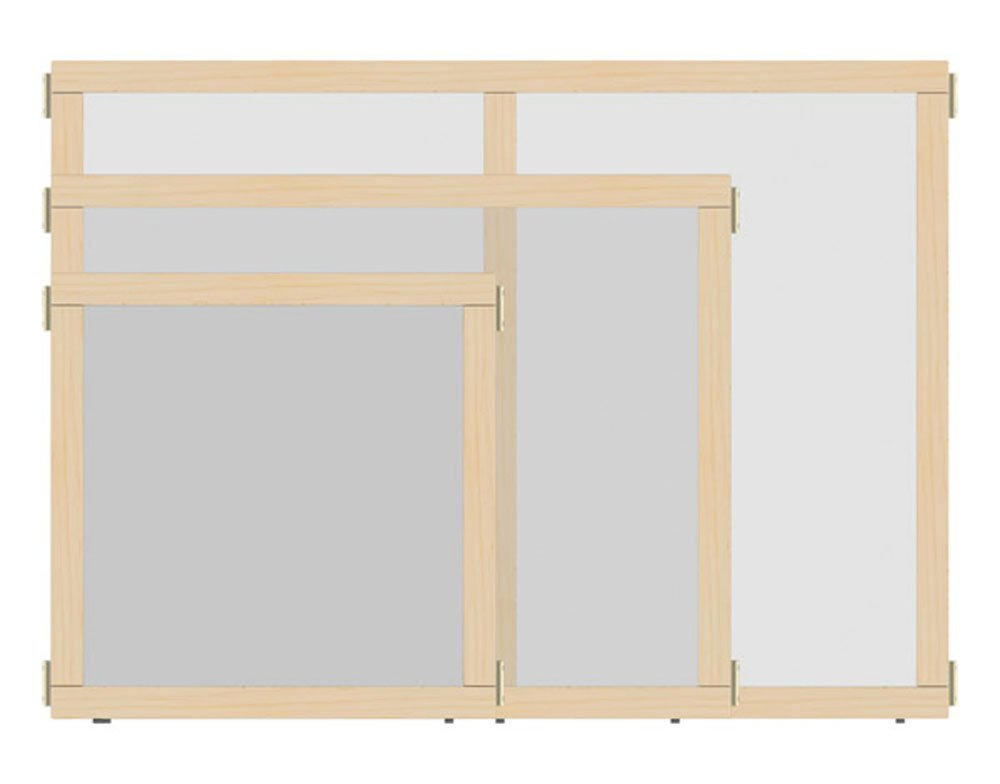 Offex School kids Study Playroom T-height See-Thru Hub Panel, 48'' Wide (OF-1514JCTPL) by Offex (Image #2)