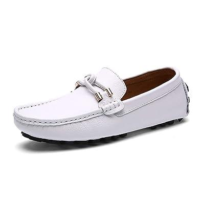 b49080c3ad07 Chaussure de Cuir Basse au Loisir Souple pour Homme Soulier Chaussure de  Ville de Marche sans