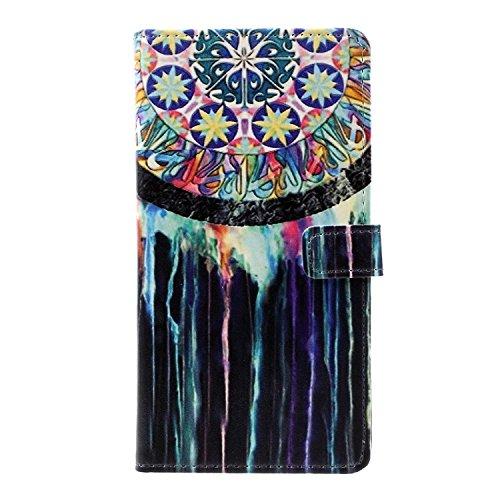 Vandot para Huawei P8 Lite PU Funda Serie Bolsa Modelo Colorido con Bonito Hermoso Patrón de Impresión Dibujo Monedero de la Cartera de la Cubierta Móvil del Bolso del Teléfono Móvil del Proteja la pi HSD 08