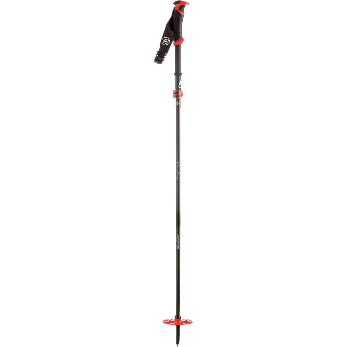 Burton Black Diamond Compactor Poles, Black/Red, Small by Burton
