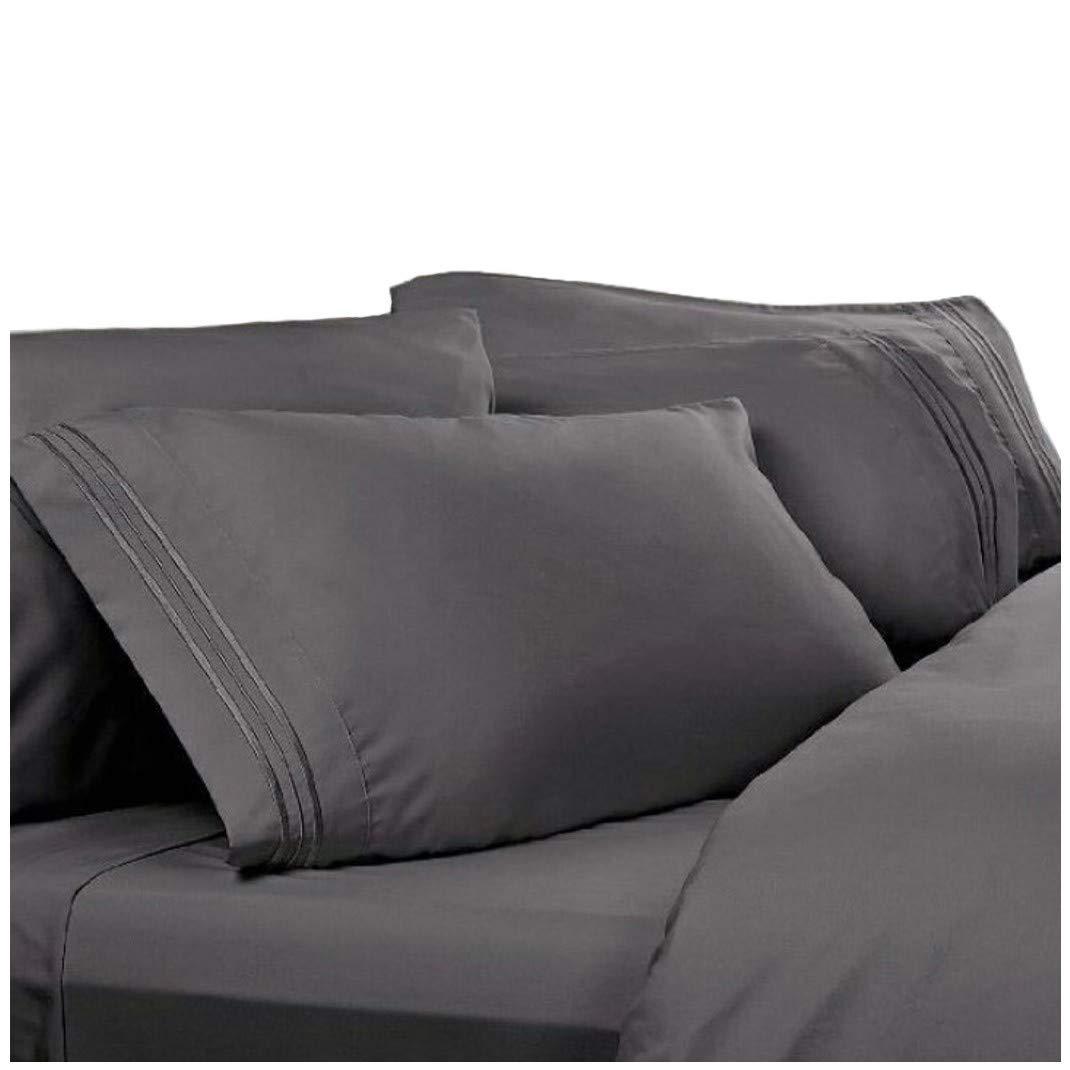 Amazon.com: Twin XL Extra Long Sheets: Charcoal Grey, 1800 Thread