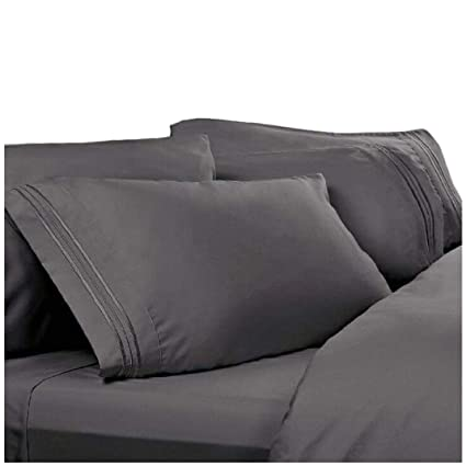 Amazon.com: Twin XL Extra Long Sheets: Charcoal Grey, 1800 Thread