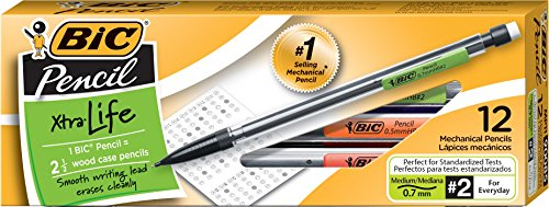 BIC Pencil Xtra Life, Medium Point (0.7 mm), (Automatic Pencil Lead)