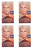 Revlon Colorsilk Beautiful Color, Medium Golden Chestnut Brown 46 1 ea (Pack of 4) + FREE Travel Toothbrush, Color May Vary