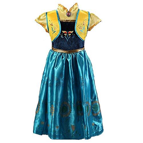Frozen Fever Inspired Anna Costume (3-4)