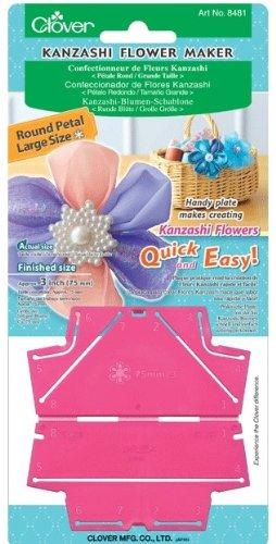 Clover Kanzashi Flower Maker Round Petal, Large